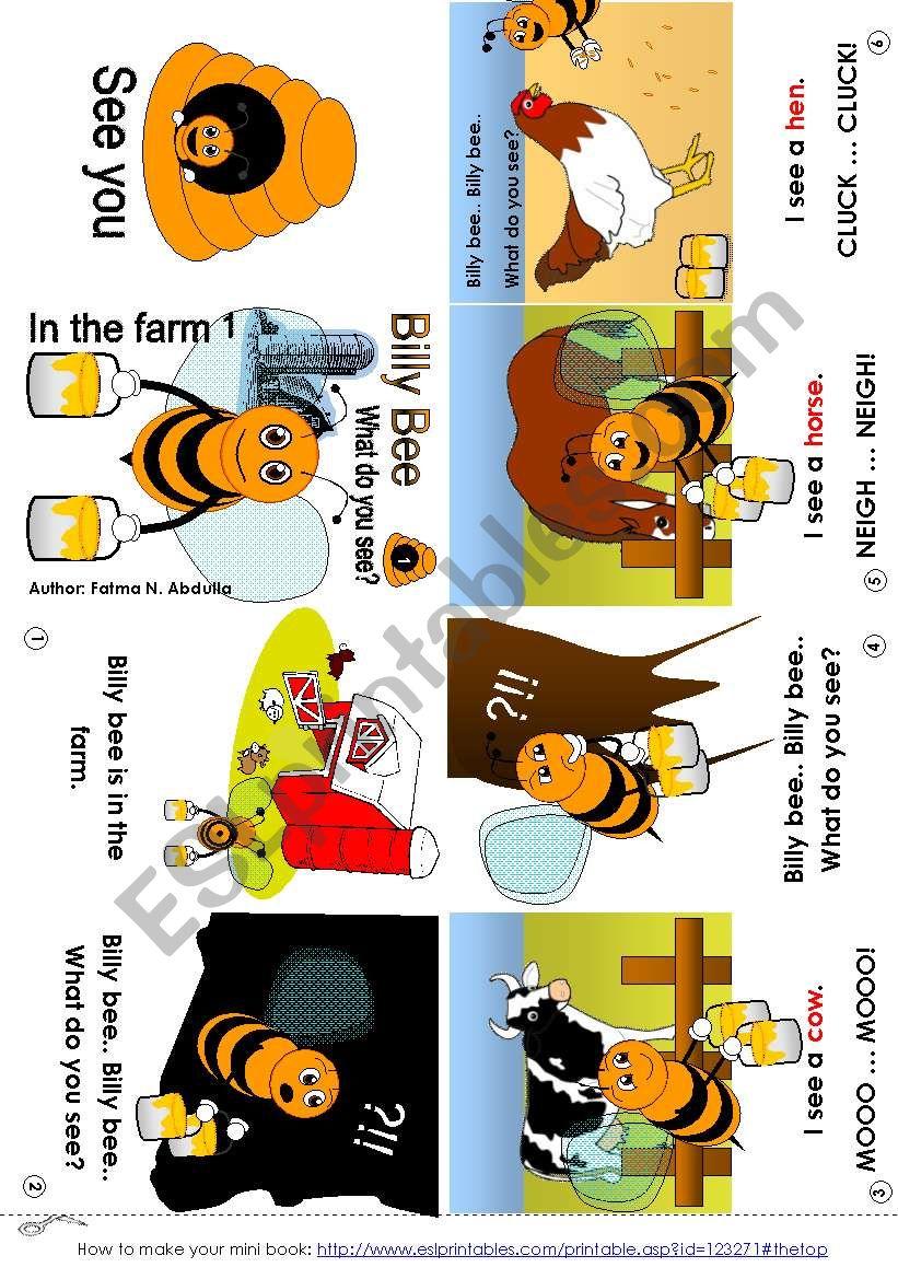 Billy Bee In the farm 01 [C] (mini-book)